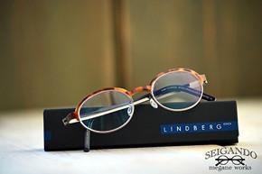 ◎フレーム:LINDBERG/STRIP 9808 ◎レンズ:NIKON/1.60 薄型遠近両用レンズ