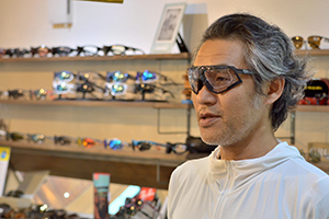 ◎フレーム:RUDYPROJECT/DEFENDER GRAPHENE COLLECTION ◎RXインサート:RUDYPROJECT/FR52 ◎レンズ:HOYA/HL167VS-H