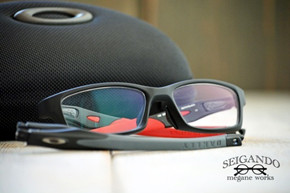 ◎フレーム:OAKLEY/CROSSLINK small ◎レンズ:SHOWA光学/ ULTIMAX Ⅲ DFC