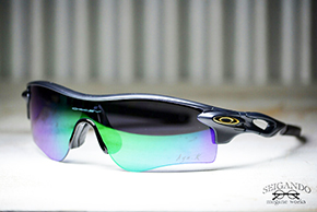 ◎フレーム:OAKLEY/RADARLOCK CUTOM ◎レンズ:OAKLEY/Jade lridum PATH