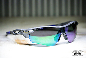 ◎フレーム:OAKLEY/RADARLOCK CUSTOM ◎レンズ:MAX tremer PORALIZED/ GARY