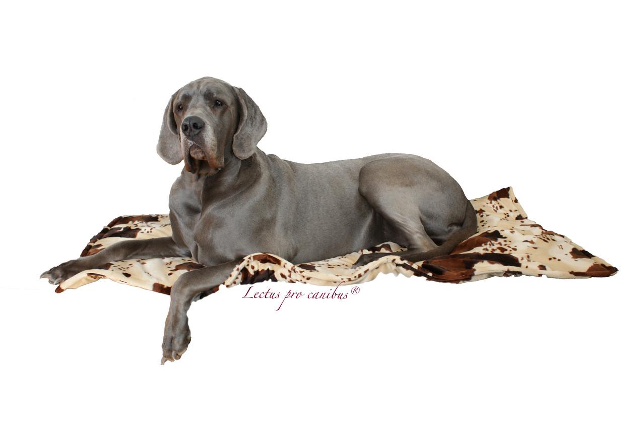 Hundedecke Lectus pro canibus aus Tierfellimitat mit unterfüttertem Volumenvlies, waschbar