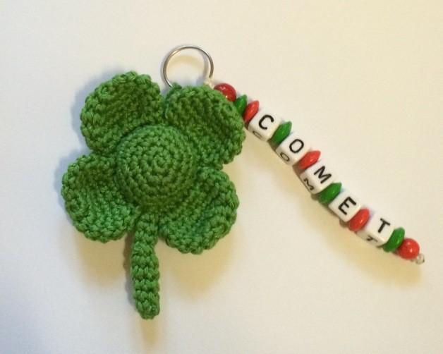 Schlüsselanhänger Kleeblatt Kipola Kreativ