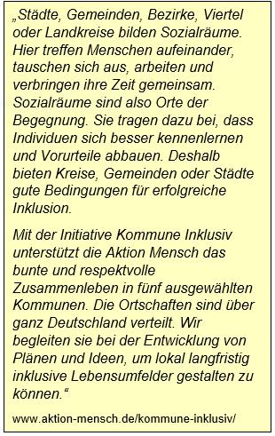 Zitat Aktion Mensch. www.aktion-mensch.de/kommune-inklusiv/