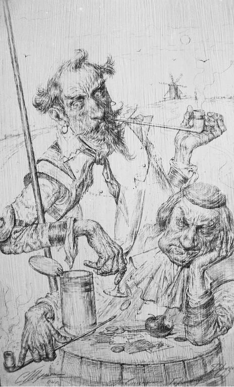 Abenteuerpause (Bleistift 20x35 2003)