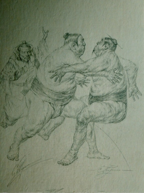 Sumo (Bleistift 20x30 2005)