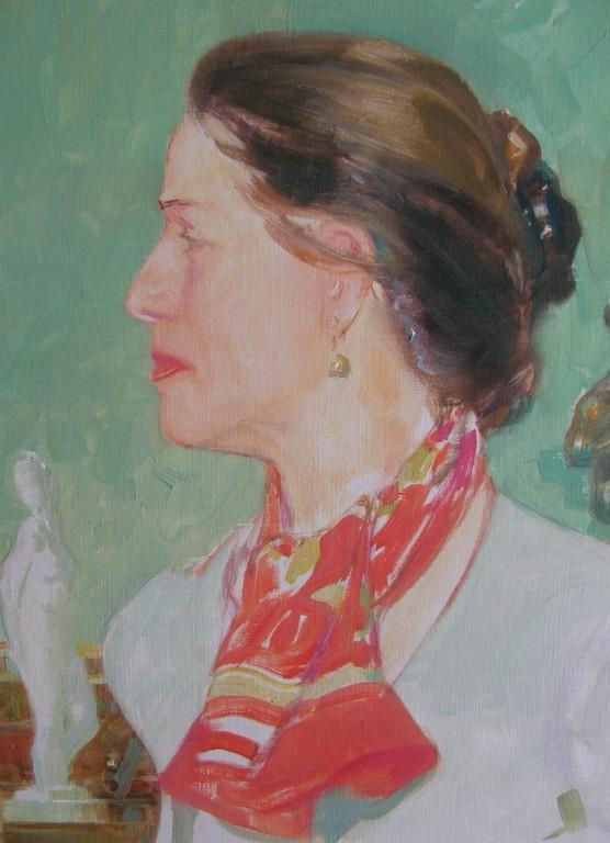Baronin von Kempskij ( Öl auf Karton 30x40 2008)