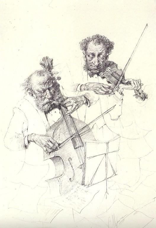 Duett (Bleistift  20x30 1997)