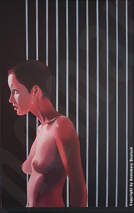 """"""" Befreiung, Portrait """" Acryl auf Leinwand  /  0,90m x 0,60m"""