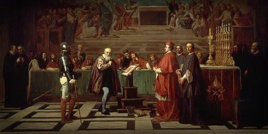 Galileio vor der Inquisition, Lizenz: gemeinfrei
