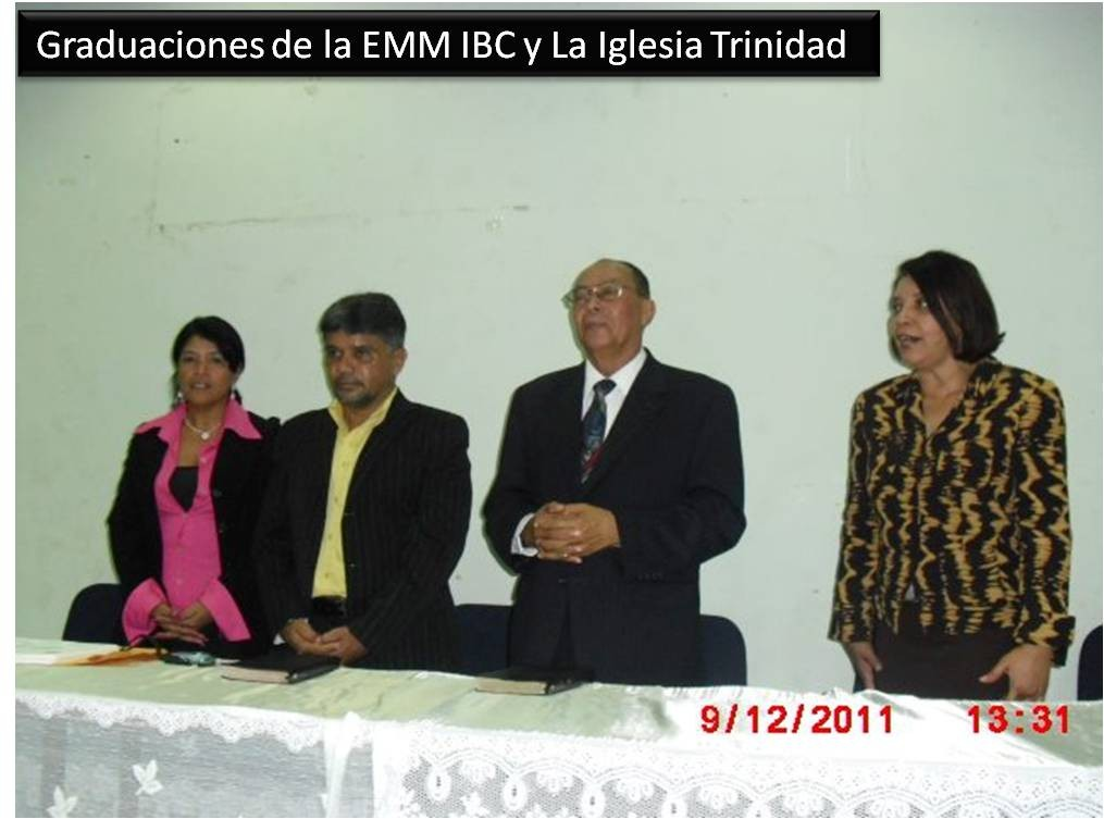 Directiva de Misiones en la Graduacion