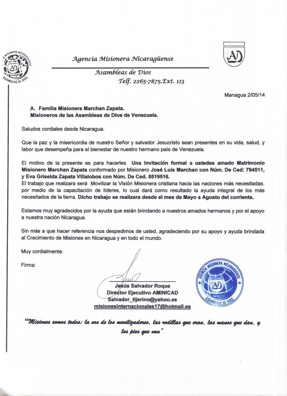 Carta I desde Nicaragua