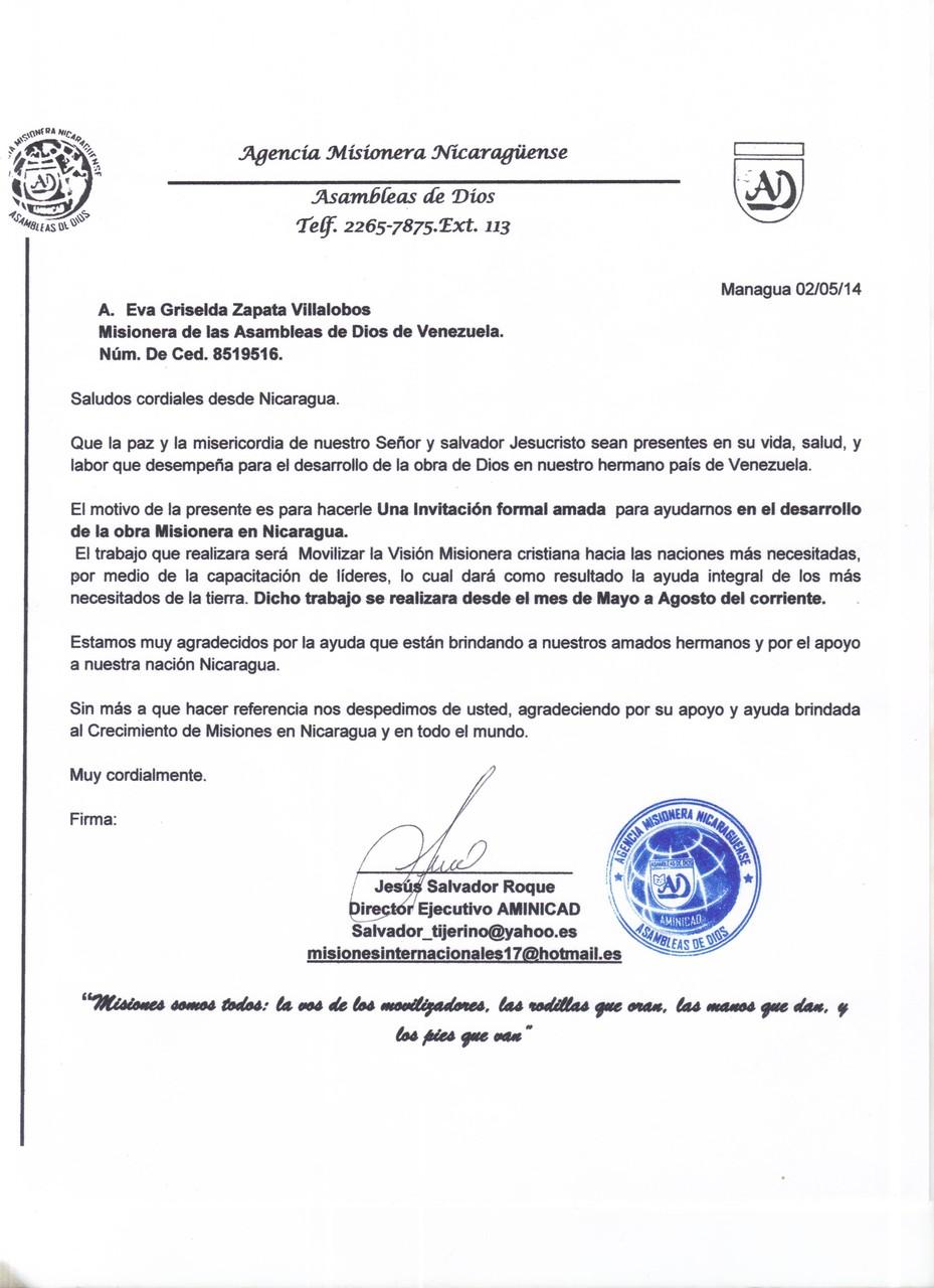 Carta II desde Nicaragua