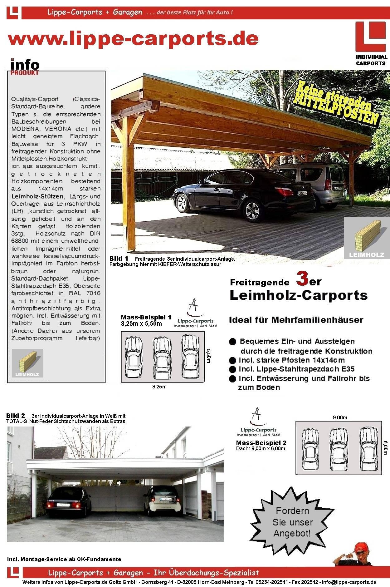 Dreiercarport Prospektblatt 1