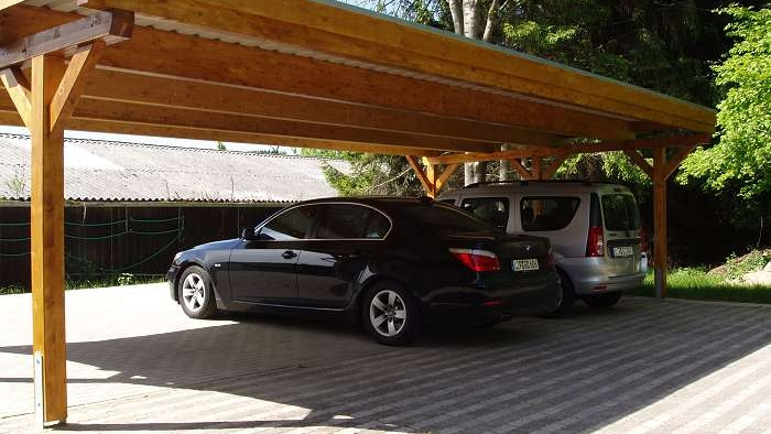 popular carport 3 autos pm08 kyushucon. Black Bedroom Furniture Sets. Home Design Ideas