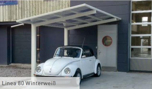 weißes Alu Carport