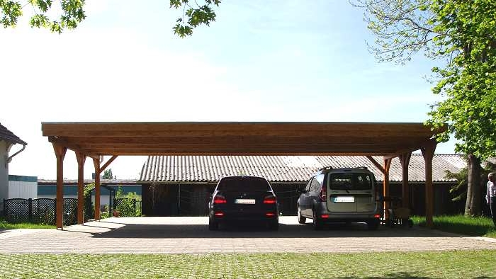 dreiercarports reihencarports carport in holz alu. Black Bedroom Furniture Sets. Home Design Ideas