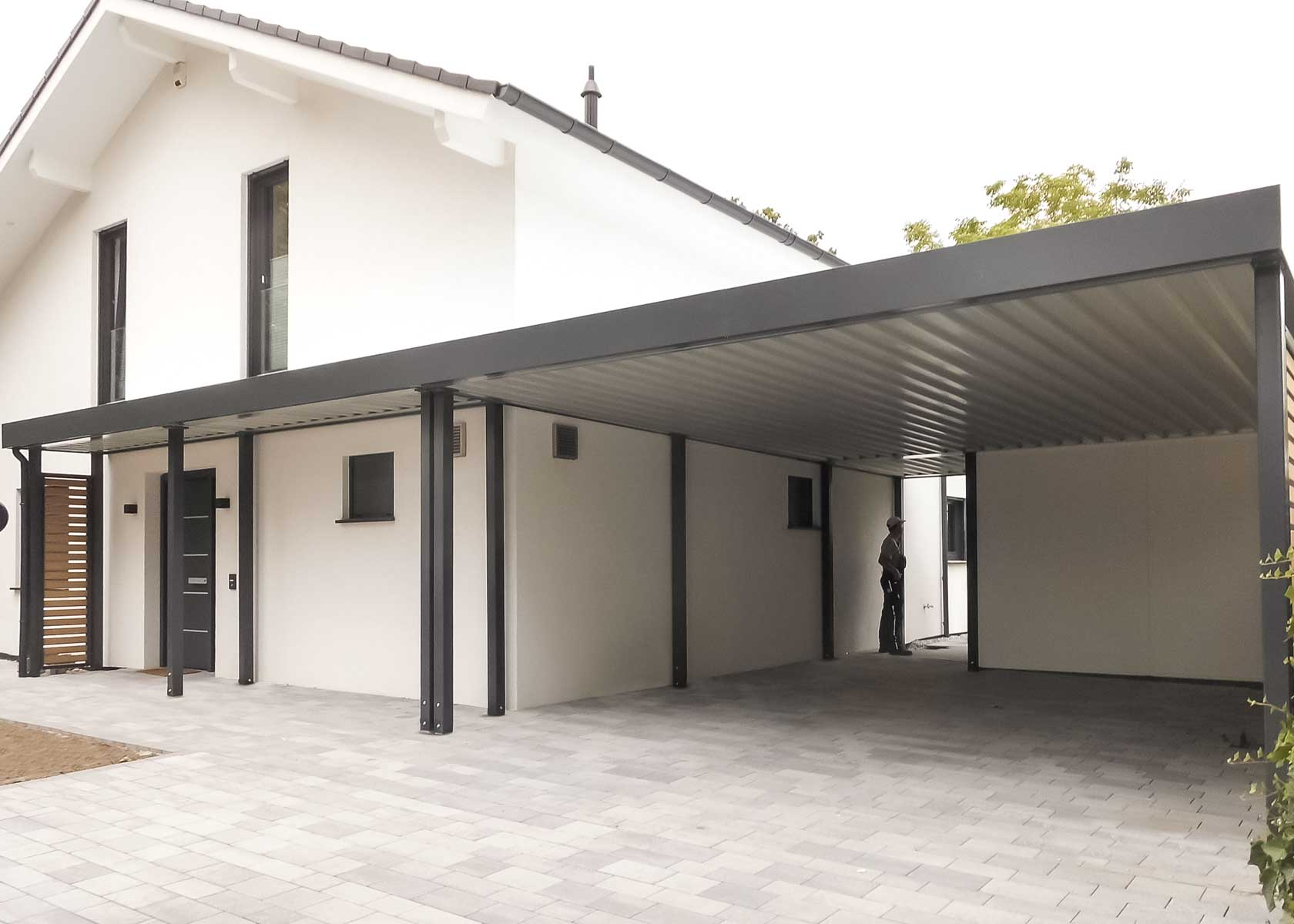 carport aus lippe carport in holz alu stahl carport bausatz. Black Bedroom Furniture Sets. Home Design Ideas