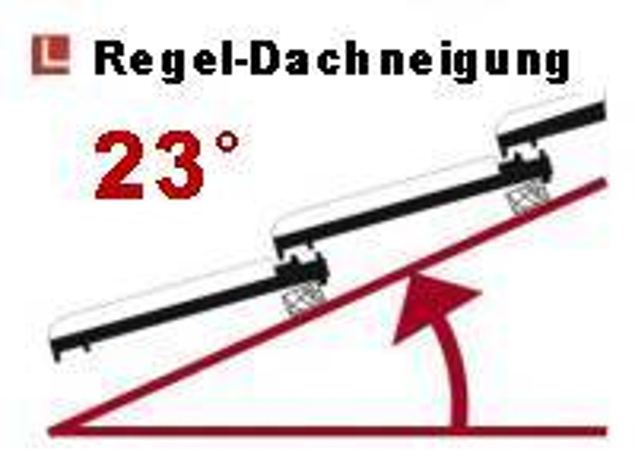 Regeldachneigung 23° bei Lippe-Satteldachcarport MÜNSTER