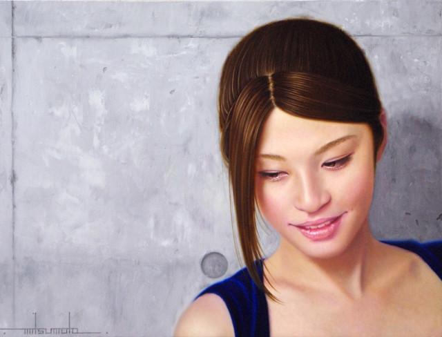 「余白にある…2つの空気」4号F(33.3×24.2cm) 部分 油彩画