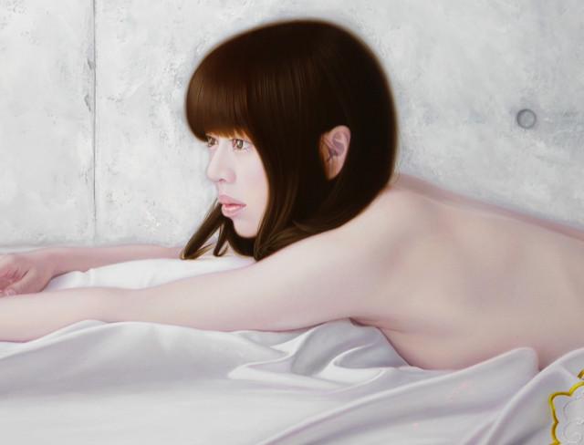 「君と余白の創造美」 30号M(91.0×60.6cm) 部分 油彩画