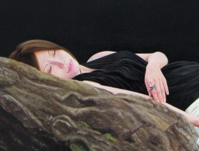 「余白の芸術」 100号変(162.0×81.0cm) 部分 油彩画