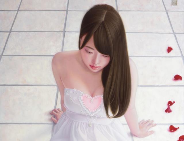 「余白の創造 ... 君と玲瓏」/50号変(58.3×116.7cm)/油彩、プラチナ箔、キャンバス、パネル