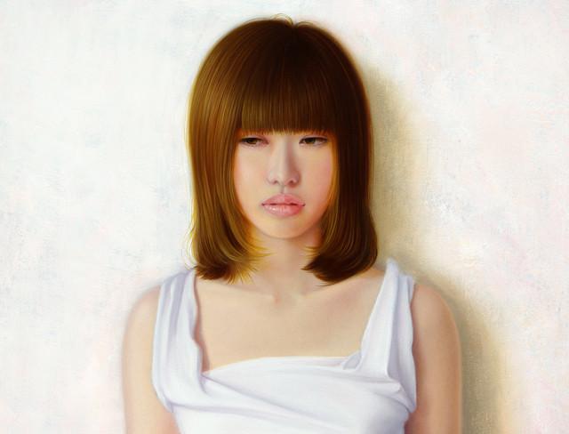 「余白にある ... 君のうたたね」 6号F(41.0×31.8cm) 部分 油彩画