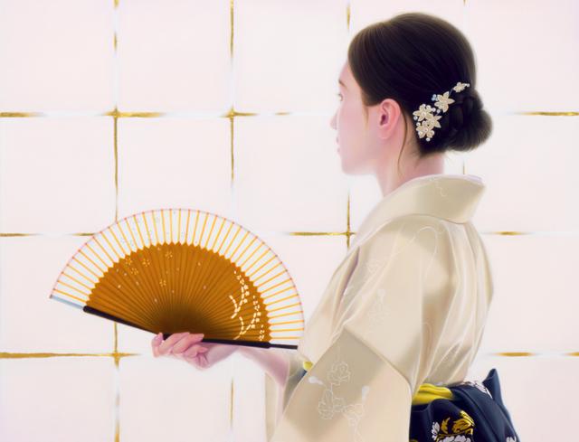 「余白の創造 ... 君と凛」/20号M(50.0×72.7cm) 部分/油彩、金箔、キャンバス、パネル