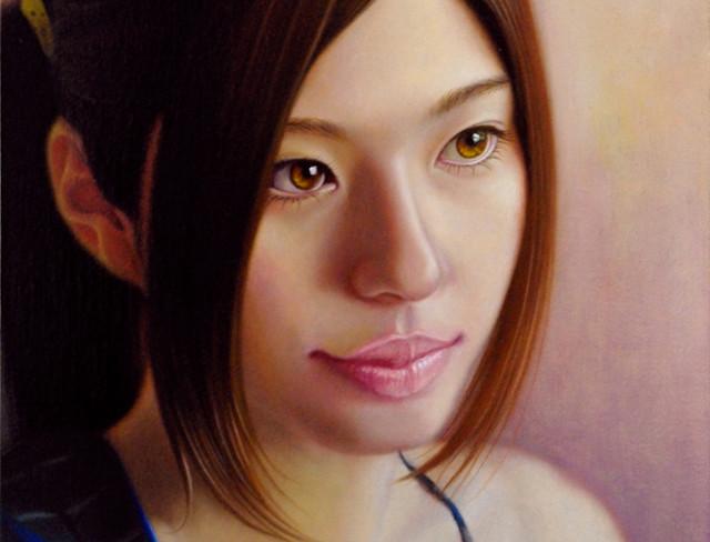 「余白にある…想と君」 SM(15.8×22.7cm) 部分 油彩画