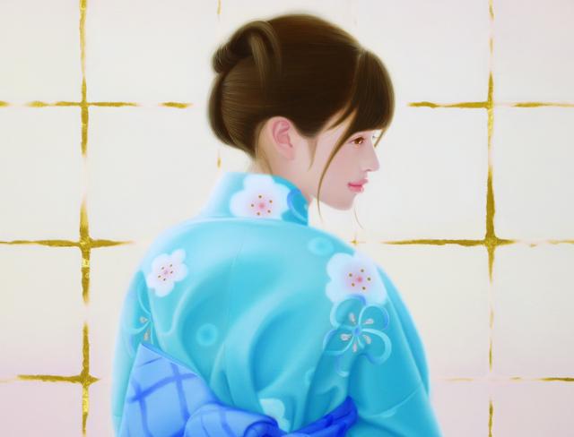 「余白の創造 ... 君と玲瓏」 12号M(60.6×41.0cm) 部分 油彩画、金箔