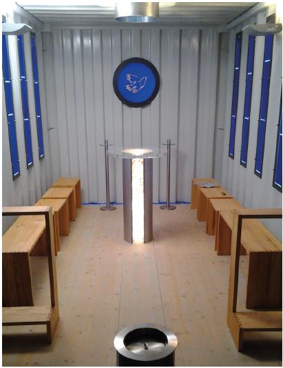 Innenraum Heilig-Geist-Kapelle Aresing