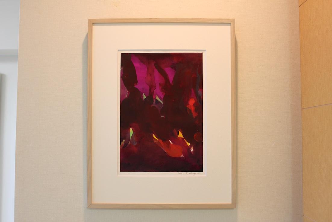Ryoichi Kobayashi  / 小林良一 紫によせて   紙、水彩  2015年