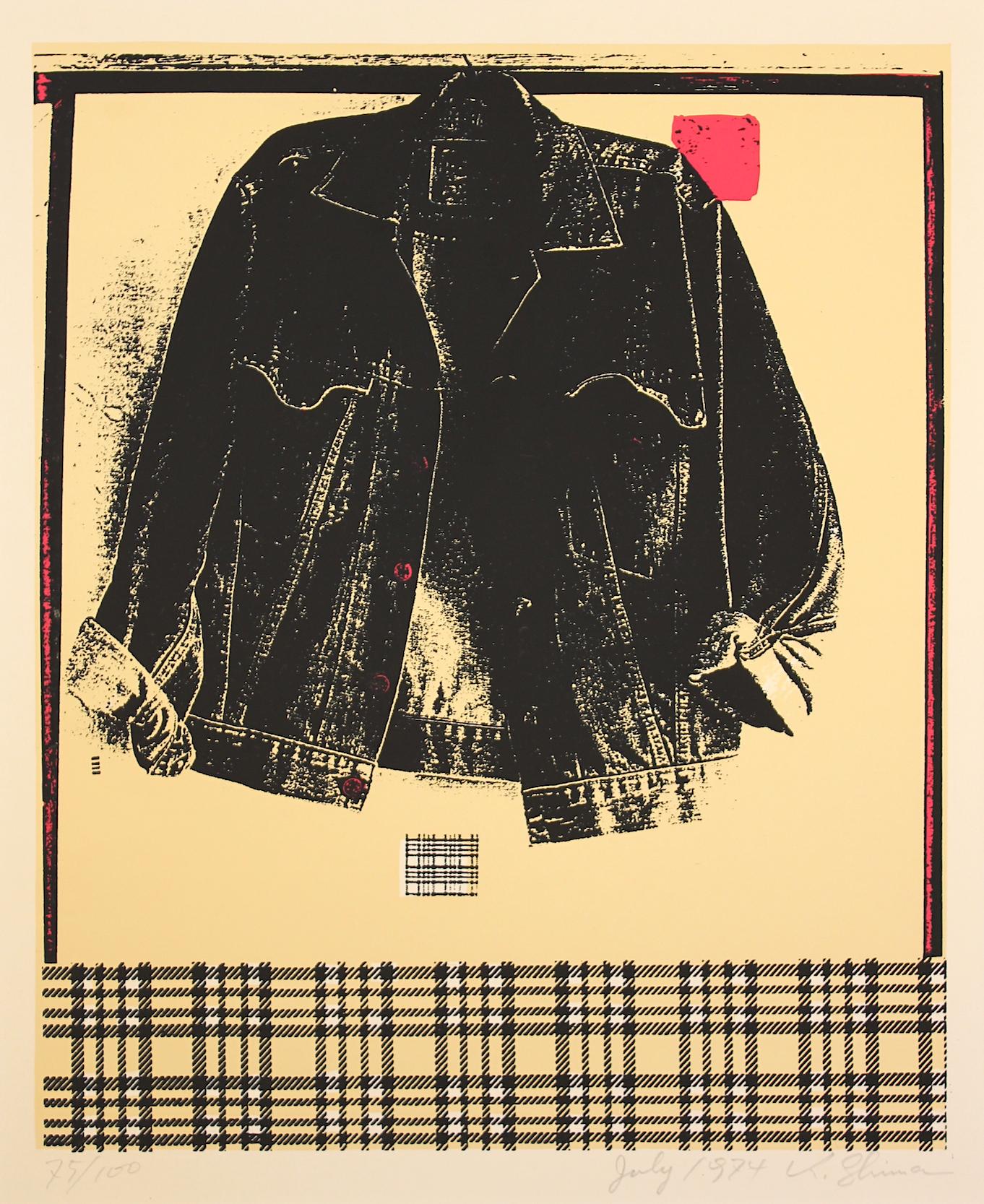 Shima Kunikazu / 島州一 ジャケット シルクスクリーン、紙 1974年