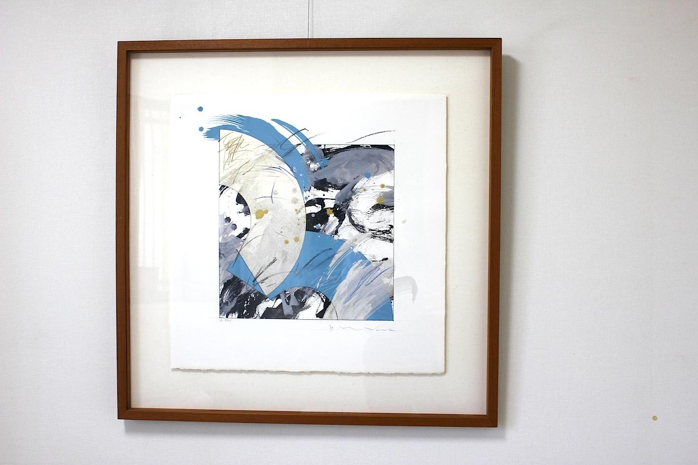 Naoki Suwa /  諏訪直樹  D−8931 岩彩、墨、紙 1989年