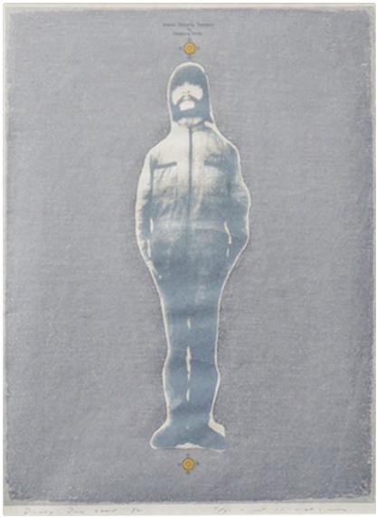 野田哲也 日記1972年12月22日 シルクスクリーン、木版、和紙 1973年