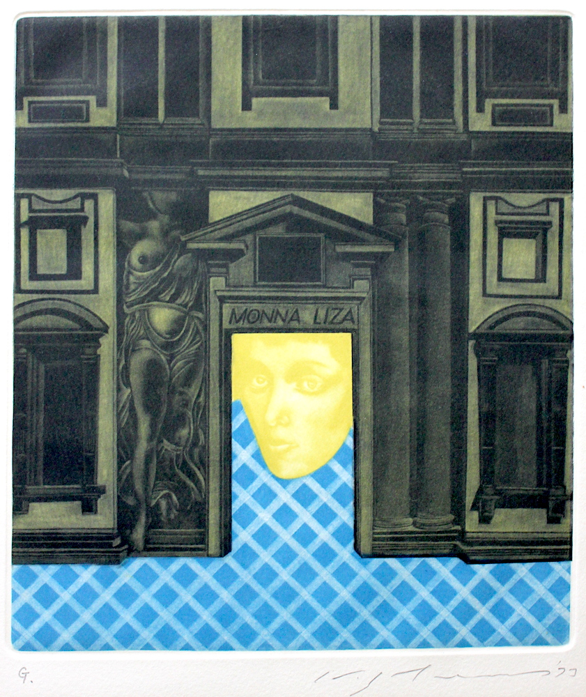 Masuo Ikeda  / 池田満寿夫 胚珠 カラーメゾチント 紙 1973年