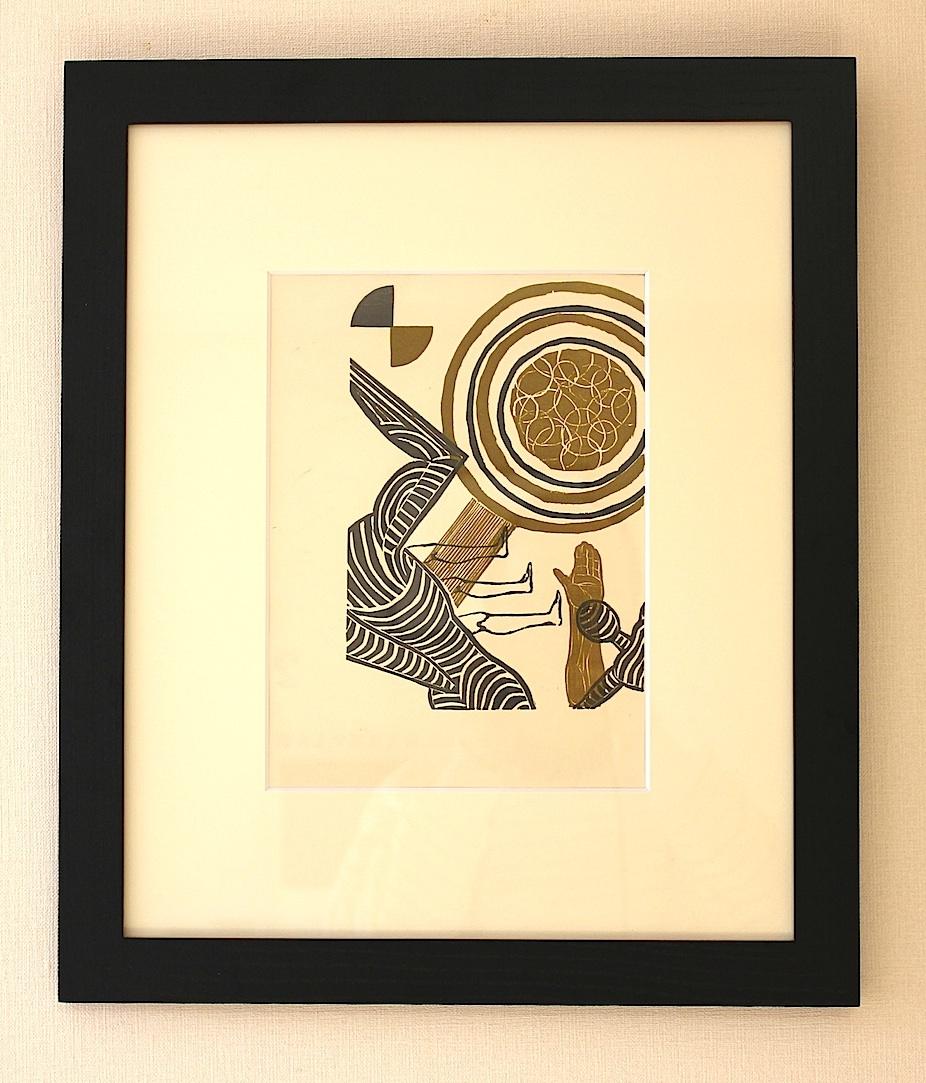 Koshiro  Onchi / 恩地孝四郎  海の童話より   木版画、和紙 1931年