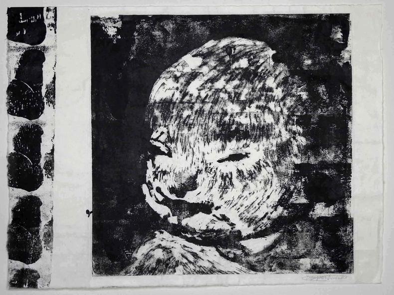 Keisuke  Yamaguchi /  山口啓介 DU Childのcore       木版画によるモノタイプ、和紙  2005年