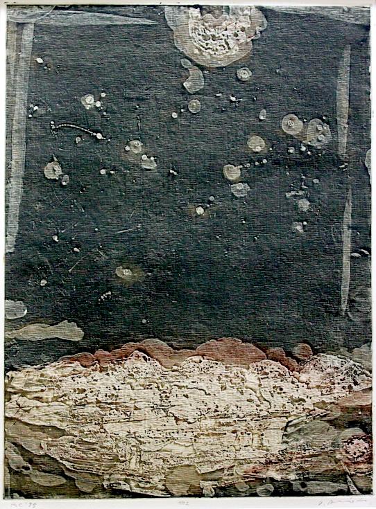 Arinori  Ichihara /  一原有徳  彷 no.2   トタンによる凹版画  1972年