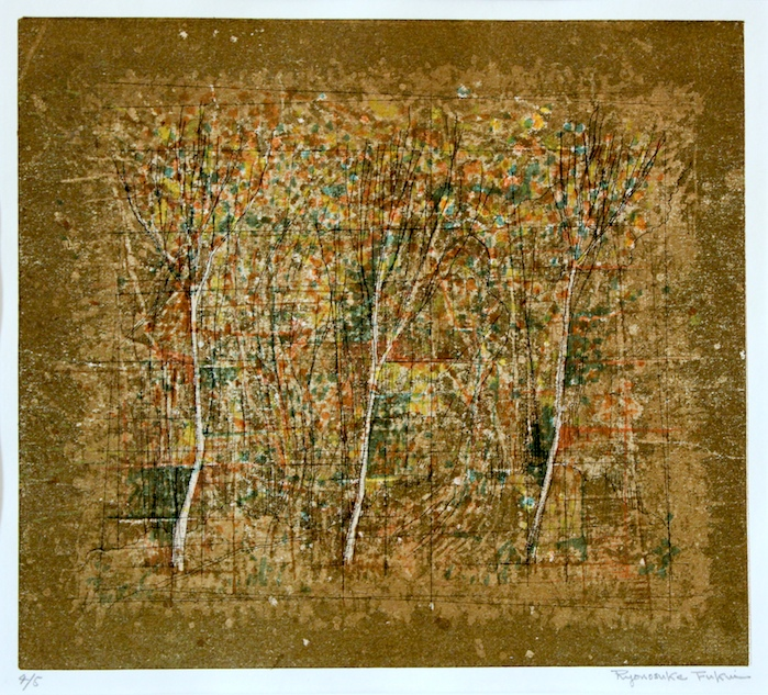 Ryonosuke  Fukui  /  福井良之助 風景   孔版画、紙