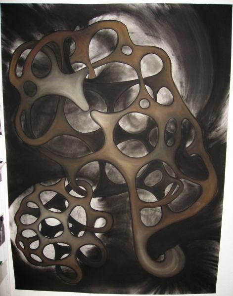 α (2010) Pastellkreide auf Papier 150x200cm