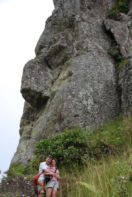 man beachte die markante Nase des Felsenkopfes...