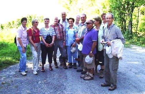 Gruppe oberhalb von Oberderdingen