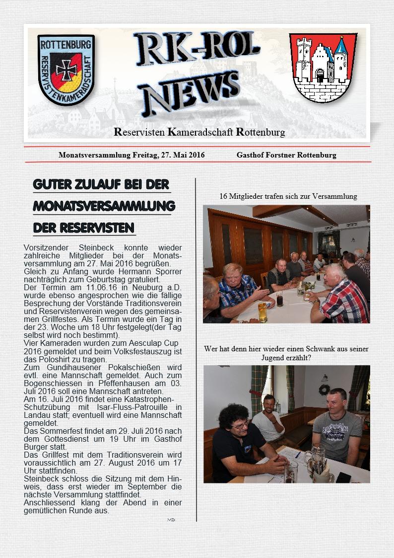 Protokoll der MV vom 27.05.2016