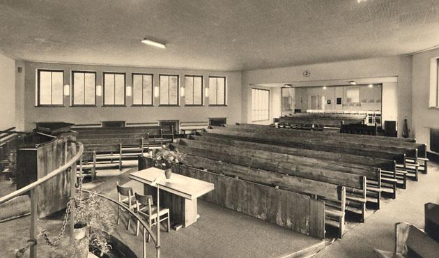 Friedenskirche Innenraum: 1954