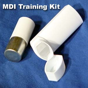 MDI Training Kit, Practice Inhalers, Simulation Inhalers