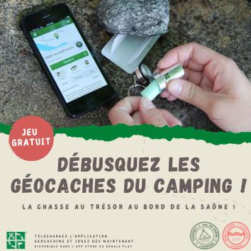 Les Geocaches s'installent au Camping du Val de Saône