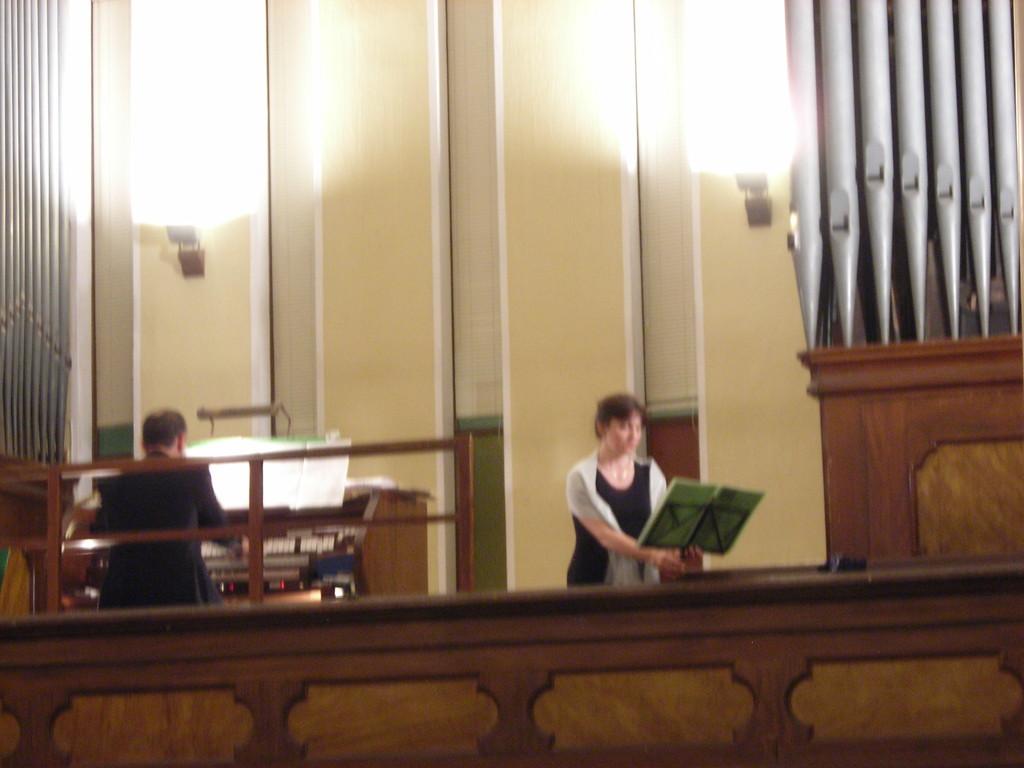 """Concerto """"Frau Musika"""" 27 giugno 2009 Tempio Valdese di Torre Pellice  con Ilenya Goss, soprano e Nadia  Caneva, flauto"""