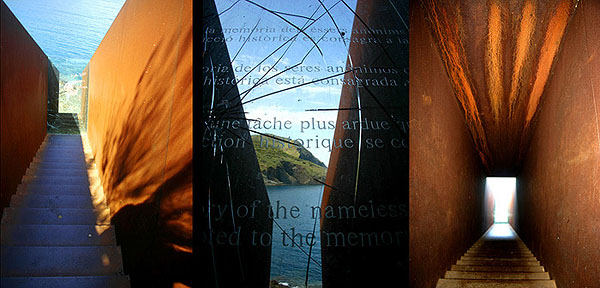 Walter Benjamin Monument von Dani Karavan, Port Bou, Spanien